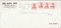 MAROC 1966 - 4 Fach Frankierung Auf Firmenbrief - Marokko (1956-...)