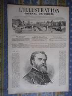 L ILLUSTRATION 30/11/1872 JANET LANGE REIMS TROUPES FRANCAISES LONDRES ETATS UNIS CHEVAUX OMNIBUS BERTALL MACHINE VAPEUR - Journaux - Quotidiens