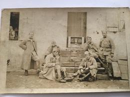 Carte Photo De Poilus Avec Postes Radios Et Téléphones 1914-1918 - 1914-18