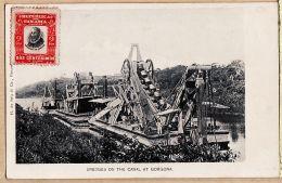 Amsud004 PANAMA Canal At GORGONA French Dredges Dragueuses Drague Flottante à Vapeur 1900s H De SOLA - Panama