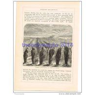 ORIGINAL ARRANGEMENT, STONES AT CARNAC, FRANCE, BOOK ILLUSTRATION, 1880 - Estampes & Gravures