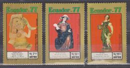 ECUADOR 1977 CERAMICA FIGURE TOLITA CULTURE BANCO ENTRAL MUSEUM MNH SC# C603-C604 - Ecuador