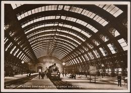 Postal Italia - Milano - Stazione Centrale - Tettoie (Arch Stacchini) - Tram - Postcard - Milano (Milan)
