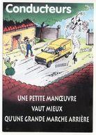La POSTE --Humour---carte Postale De Prévention Des Dangers Facteur (voiture,vache,chat Noir ).... à Saisir - Poste & Facteurs
