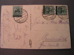 Saar MEF Germania  ,   Auf Kart5e  Aus Einem Dorf 1920 - 1920-35 Saargebiet – Abstimmungsgebiet