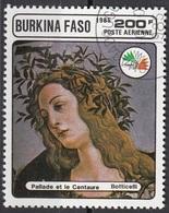 """Burkina Faso 1985 Sc. 749F  """"Pallade E Il Centauro""""  Quadro Dipinto Da Botticelli  Rinascimento Painting Expo Italia '85 - Nudes"""