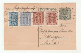 1922 AUSTRIA STATIONERY 20kr 75kr 2x 50kr Stamps On UPRATED 5kr POSTAL  CARD  Cover - 1850-1918 Empire