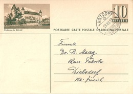 """PK 182  """"Château De Bulle""""           1953 - Entiers Postaux"""