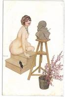 Le Modèle Irrévérencieux - Illustrateur Raphaël KIRCHNER - Femme Nue - Kirchner, Raphael