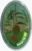 # MANGO LUNA VERDE PERU BY AIR Fruit Sticker Label Etichette Etiquettes Etiquetas Adhesive Aufkleber Fruta Frucht Avion - Fruits & Vegetables