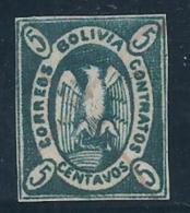 BOLIVIA 1867/68 - Yvert #2 Sin Goma (*) - Bolivia