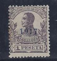ESPAÑA/GUINEA 1917 - Edifil #121hcc Sbrecarga En Azul Oscuro - MNH ** - Guinea Spagnola