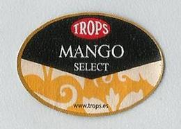 # MANGO SELECT TROPS Spain Fruit Label, Etichette Etiquettes Etiquetas Sticker Adhesive Europe Espana - Fruits & Vegetables