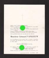 Léonard VANLEEUW GRAND-SPOUWEN 1896 - FEXHE-SLINS 1965 - Décès