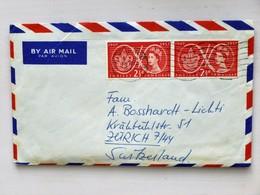 GREAT BRITAIN / UK / ENGLAND // 1957, Cover, 2x 21/2d JUBILEE JAMBOREE / BOY SCOUT MOVEMENT Stamps => SWITZERLAND - 1952-.... (Elizabeth II)
