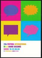 Switzerland 2003 / 20th International Comics Festival In Sierre / Postal Stationery Card - Cómics