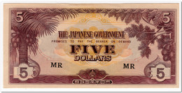 MALAYA,JAPANESE OCCUPATION,5 DOLLARS,1942,P.M6,AU-UNC - Banknotes
