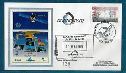ESPACE - ARIANE Vol Du 1993/05 V56 - Arianespace - 2 Documents - Europe