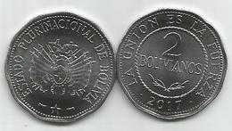 Bolivia 2 Bolivianos 2017. UNC - Bolivia