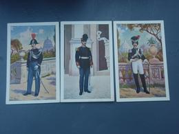 3 Cp Gendarmeen Tenue De Gala, Officiel Guardia Palatina, Et Dei Gendarmi In Alta Uniforme. GENDARMES Italiens. - Uniformes