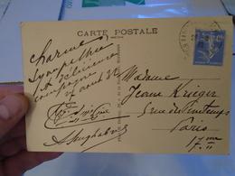 SI KADDOUR BENGHABRIT CARTE MANUSCRITE ENVOYEE A LA SOPRANO JEANNE KRIEGER 1932, Institut Musulman Grande Mosqué Algérie - Autographes
