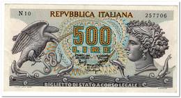 ITALY,500 LIRE,1966,P.93a,XF - Sonstige