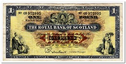 SCOTLAND,ROYAL BANK,1 POUND,1966,P.325,F-VF - Schotland
