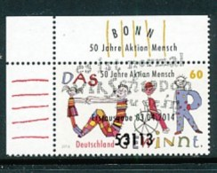 GERMANY Mi.Nr. 3072 50 Jahre -Aktion Mensch- ESST Bonn- Eckrand Oben Links - Used - BRD