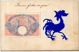 CPA Billet De Banque Banknote Non Circulé Gaufré Coq - Monete (rappresentazioni)