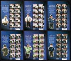 ALDERNEY 2003 Community Services (3rd Series)/Alderney Police: Set Of 6 Sheets UM/MNH - Alderney