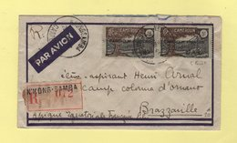 Cameroun Francais 27.8.40 - Lettre Recommandee N'Kong-Samba Destination Brazzaville - 4 Ferme Et 4 Normal - Covers & Documents