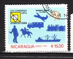 Nicaragua, UPU, U.P.U., Facteur, Mailman, Postier, Cheval, Horse, Train, Camion, Truck, Avion, Plane, Hamburg - U.P.U.