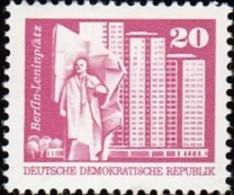 GERMAN DEMOCRATIC REPUBLIC - Scott #2074 Lenin Square, Berlin / Mint NH Stamp - Nuovi