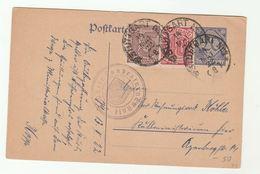 1922 STUTTGART OFFICIAL STATIONERY 15pf 10pf OFFICIAL Stamps On UPRATED 20pf Card Wurtt Landesturnanstalt Germany Cover - Briefe U. Dokumente