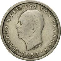 Monnaie, Grèce, Paul I, 2 Drachmai, 1957, TB+, Copper-nickel, KM:82 - Grèce