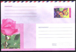 783  Butterflies - Papillons - Roses - - Postal Stationary  2018 - Unused - 2,25 - Vlinders