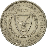 Monnaie, Chypre, 25 Mils, 1977, TTB+, Copper-nickel, KM:40 - Cyprus