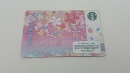 JAPAN -  STARBUCKS CARD - 6149 - SAKURA 2018 - Gift Cards
