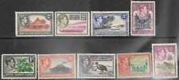 Solomon Islands  1939-42   Sc#70-2, 74-9  9 Diff To The 10sh  MNG  2016 Scott Value  $49.65 - Iles Salomon (...-1978)