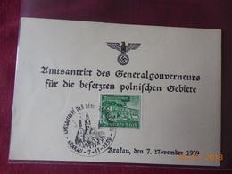 Carte Timbree Du Reich Allemand 1939 - Briefe U. Dokumente