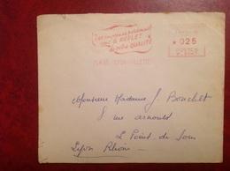 EMA Lyon Imprimé Personnel - Marcophilie (Lettres)