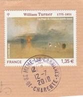 FRANCE 2010 WILLIAM TURNER YT 4438 OBLITERE -                                                    TDA77A - France
