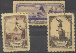 RUSSIA - 1953 Views (three From Set). Scott 1680, 1681, 1686. Used - Used Stamps