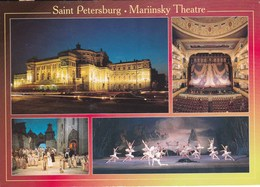 22E :Russia, St Petersburg, Mariinsky Theatre, Ballet ,multiview Postcard Commercial Used With/ Without Postage Stamp - Russia