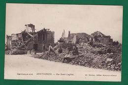 MONTDIDIER Rue Saint Luglien Ruine 5 Gars 1920 : Très Très Bon état : +2467/ - Montdidier