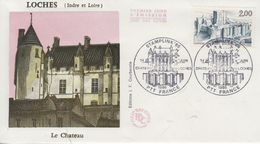 Enveloppe  FDC  1er  Jour   FRANCE   1986   Chateau  De  LOCHES  STAMPLINK ' 86 - FDC