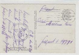 Karte Vom RAD Abt. 1/370 Mit Stummen Stempel 13.2.41 AK-Humor Karte Mit Einem Flugzeug - Briefe U. Dokumente