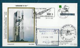 ESPACE - ARIANE Vol Du 1993/11 V61 - CNES - 4 Documents - Europe