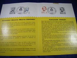 BELG.1962 1214-15 Zegels Met Eerstedag Stempel Op  NL Folder - 1961-70