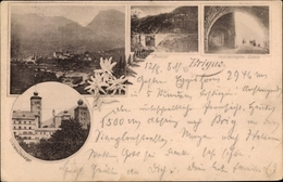 Cp Brig Glis Kt. Wallis Schweiz, Château Stuckalper, Panorama Vom Ort, Berisal, Gallerie, Edelweiß - VS Wallis